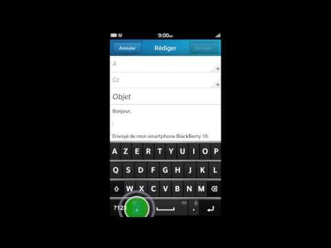 Ajout et suppression des langues sur un smartphone BlackBerry10