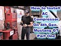 Installing the AC Compressor on Fourth Gen Mustang GT Part One, How to disconnect AC Lines and Flush