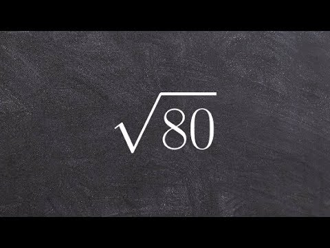 Simplifying the Square Root of a Number Using a Factor Tree, Sqrt(80)