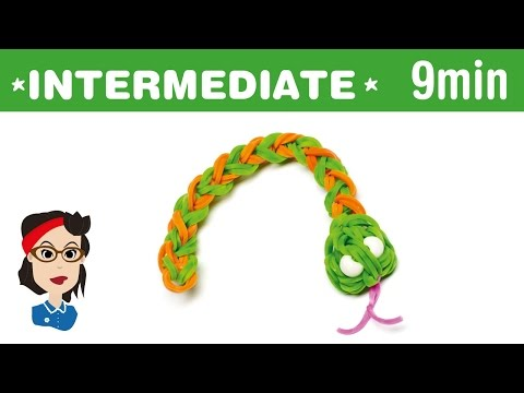 How to make a Loom Bands snake charm