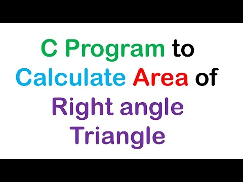 C Program to Calculate Area of Right angle Triangle
