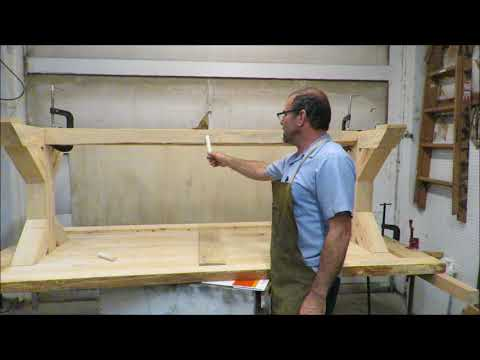 How to build a rustic live edge table. 8' tall drill press, homemade sawmill.