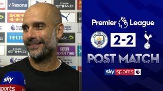 Pep reacts to VAR disallowed goal! | Pep Guardiola Post Match | Man City 2-2 Tottenham