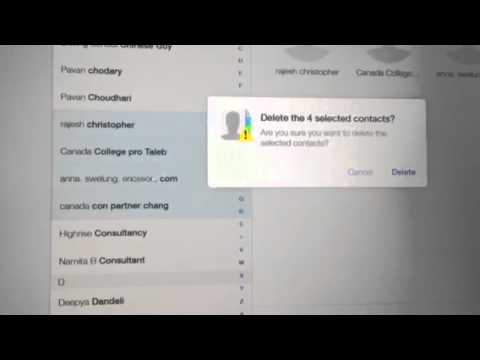 Deleting Multiple Contacts on IPhone and iCloud