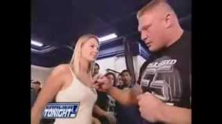 Brock Lesnar meets mr kennedy and cm punk backstage as jobbers