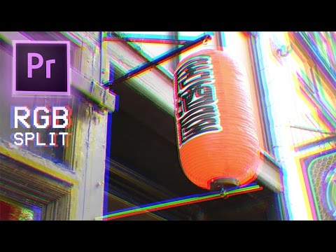 How to Create RGB Split Color Glitch Distortion Video Effects in Adobe Premiere Pro CC 2017 TUTORIAL