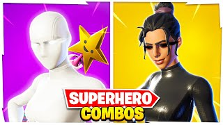 5 New TRYHARD Superhero COMBOS in Fortnite! (PROS Use These Combos)