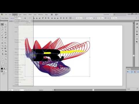 Adobe  Illustrator CS6 using the blend tool and clipping mask