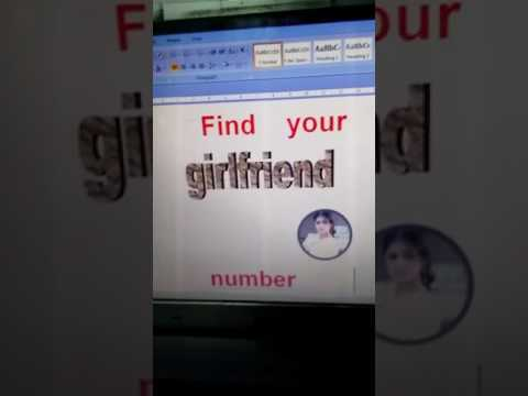 How to find my girlfriend number