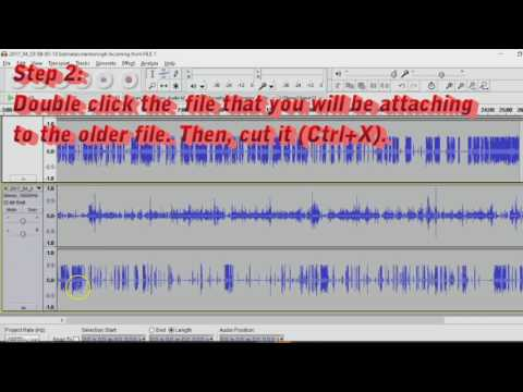 Audacity Tutorial: How to Merge Files into one .Ogg file