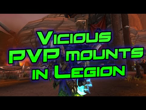 New Vicious Rated PVP Mounts in Legion