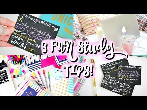FUN STUDY TIPS FOR EXAMS! 3 Fun, Simple REVISION HACKS 2016