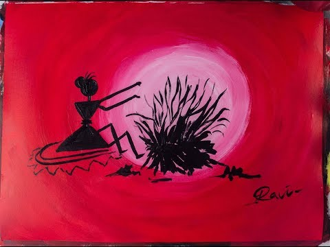 Warli Acrylic Painting