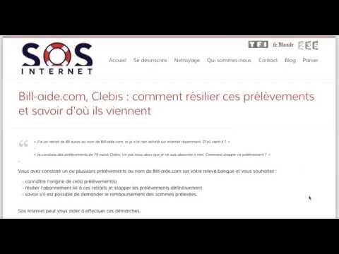 Stopper les prélèvements Bill-aide ou Clebis