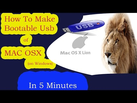 How to Create Bootable Mac OSX USB in Windows