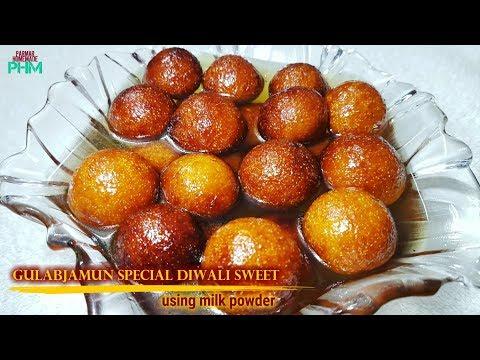गुलाब जामुन सिर्फ १० मीनट में Gulab Jamun Diwali Sweet Milk powder GulabJamun Indian sweets