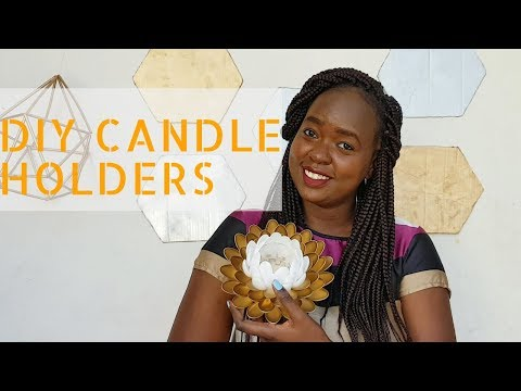 Diy Lotus Candle Holders