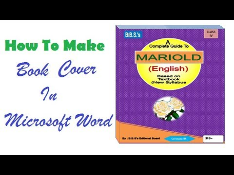 How to make Your Own Book cover using MS word 2007