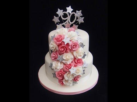 How To Make Hand Moulded Sugar Fondant Edible Sugar Rose Cake Decorating Tutorial | Ceri Badham |