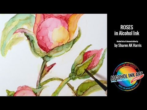Paint Roses with Alcohol Ink
