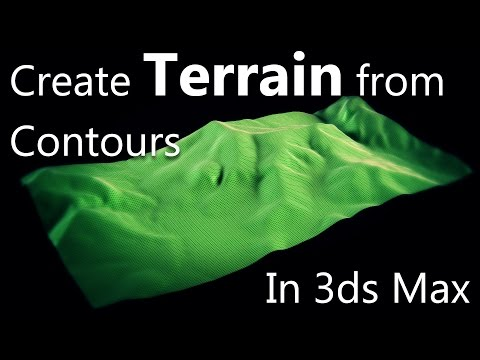 Create Realistic Terrain from Autocad to 3ds MAX