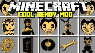 Minecraft COOL BENDY AND THE INK MACHINE MOD | BENDY, BORIS, ALICE ANGEL & MORE! | Modded Mini-Game