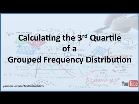 3rd Quartile of a Grouped Frequency Distributions