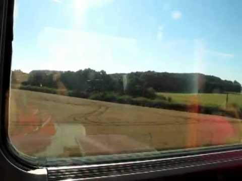 On our way to Lourdes, France via France fastest  TGV train  July 2012