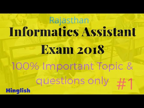 Informatics assistant exam 2018 | Suchana Sahayak Part-1