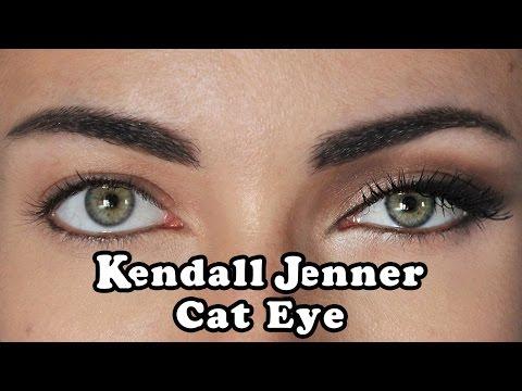 How To: Kendall Jenner DayTime Cat Eye Makeup Tutorial   MakeupAndArtFreak