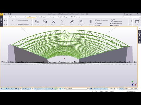 How to Create a Curved Truss | Tekla Structures 2017i
