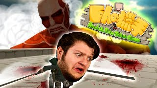 WE FINALLY BEAT HER!   Attack On Titan Tribute Game! (Funny Moments)
