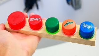 3 ideas with plastic bottle caps