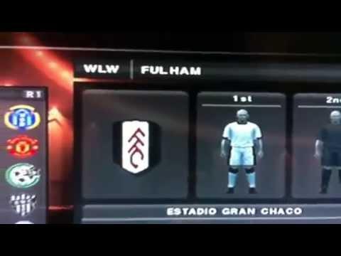 Original symbols of the English league teams PES 2013 - PS2