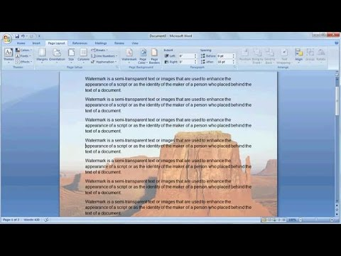 How To Insert Watermark in Microsoft Word Urdu/Hindi