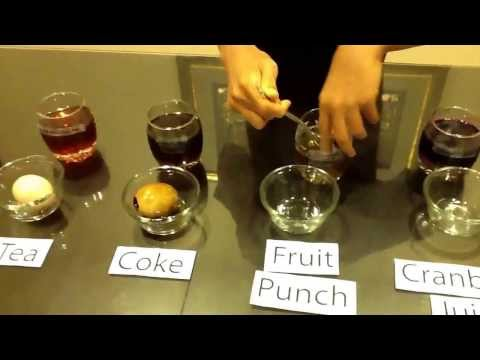 Beverages stain teeth the most. Science Project