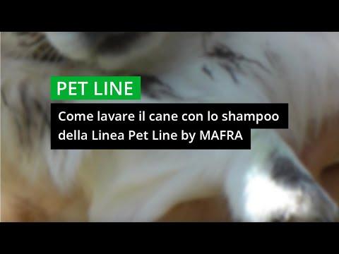 Come lavare il cane con lo shampoo della Linea PetLine di Mafra