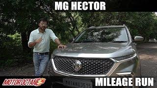 MG Hector Diesel City Mileage | Hindi | MotorOctane