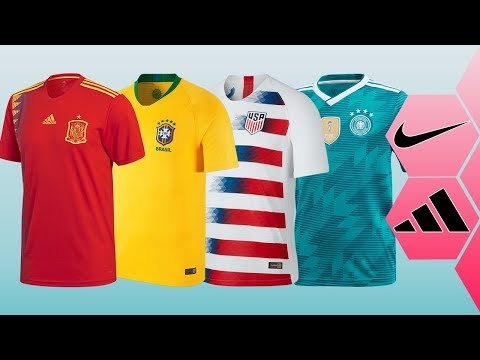 Adidas vs Nike = Who Made The Best Kits For The National Teams II 2018 II