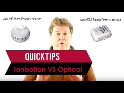 Ionisation vs. optical (photoelectric) smoke detectors