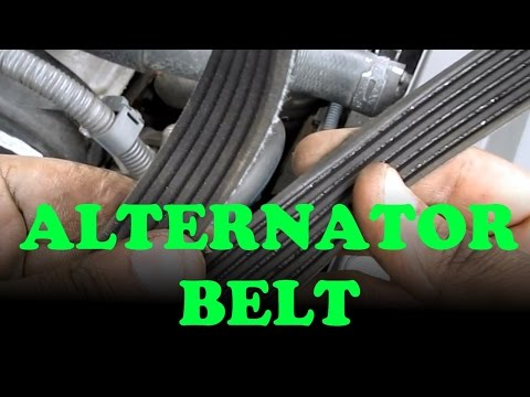 Alternator / Power Steering Belt Replacement: Toyota Lexus V6