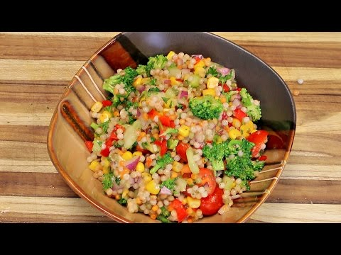 Couscous Salad Recipe  - cooking channel - budget vegan - best quick food recipes - tasty food ideas
