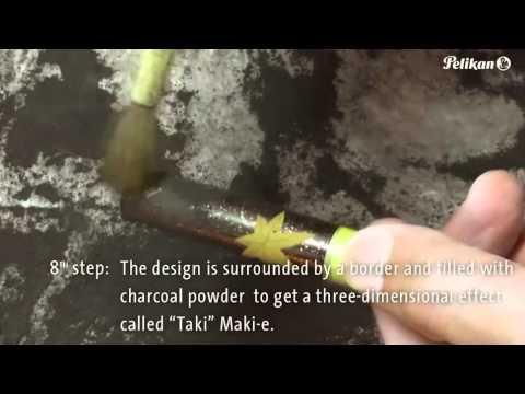 The art of creating a Maki-e fountain pen