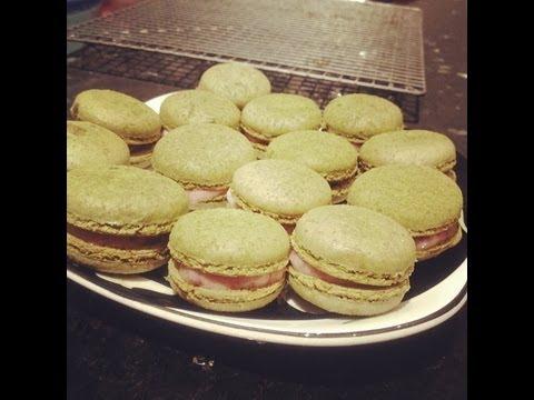 How to make Green Tea Macarons Recipe - 綠茶馬卡龍