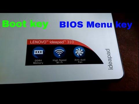 lenovo ideapad 310 boot menu and windows installation
