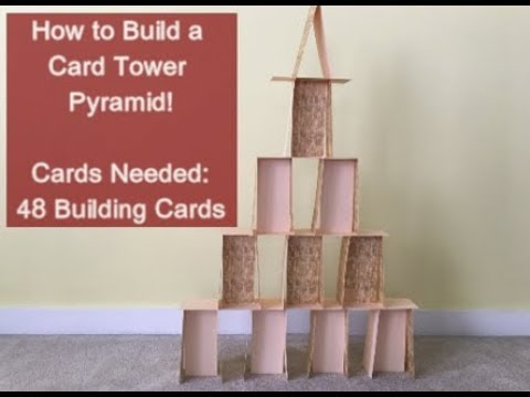 How to Build a Card House Series: Episode 4: A Card Tower Pyramid