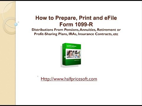 How to Print 1099 R tax form
