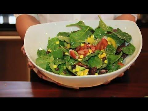 A Western Spinach Salad : Spinach Salads