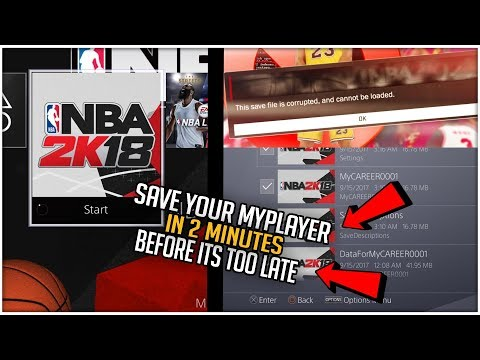 NBA 2K18 HOW TO FIX CORRUPTED FILES & RECOVER MYPLAYER DATA TUTORIAL XB1/PS4!! (2 MINUTE METHOD)
