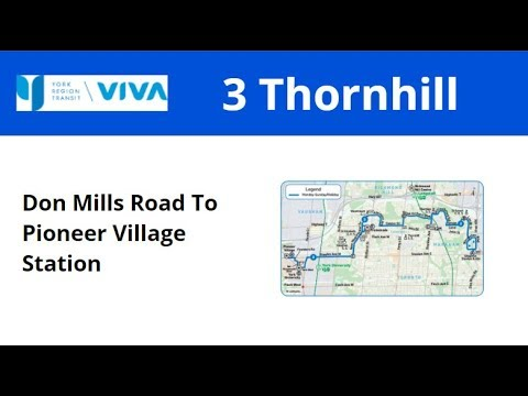 YRT 2014 New Flyer XD40 #1422 On 3 Thornhill (Don Mills Road To Pioneer VIllage Stn - Full)